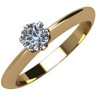 Годежен Пръстен жълто злато с диамант Tulip 0,12 ct. 2036