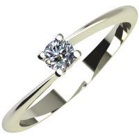 Годежен Пръстен бяло злато с диамант Chase 0,04 ct. 2047