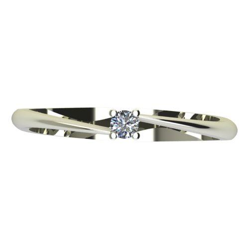 Годежен Пръстен бяло злато с диамант Chase 0,04 ct. 2047 a