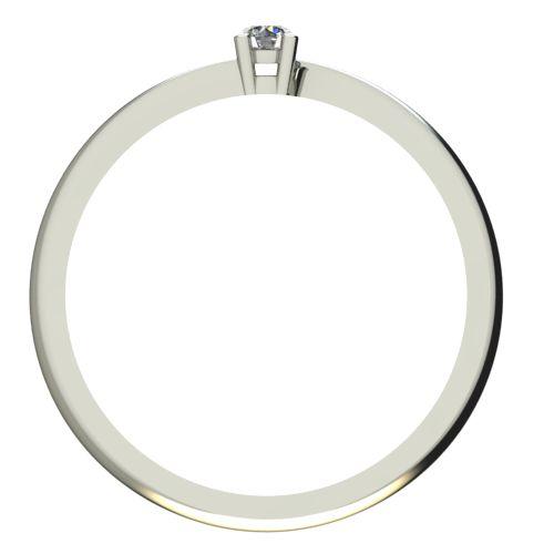 Годежен Пръстен бяло злато с диамант Chase 0,04 ct. 2047 b