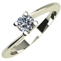 Годежен Пръстен бяло злато с диамант Chase 0,12 ct. 2049