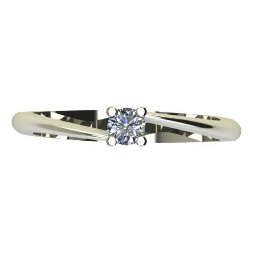 Годежен Пръстен бяло злато с диамант Chase 0,12 ct. 2049 a