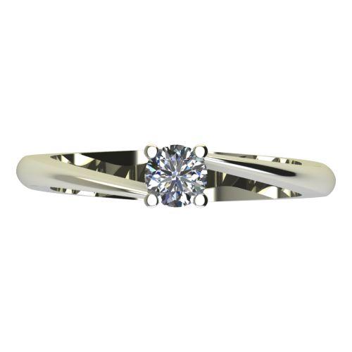 Годежен Пръстен бяло злато с диамант Chase 0,25 ct. 2051 a