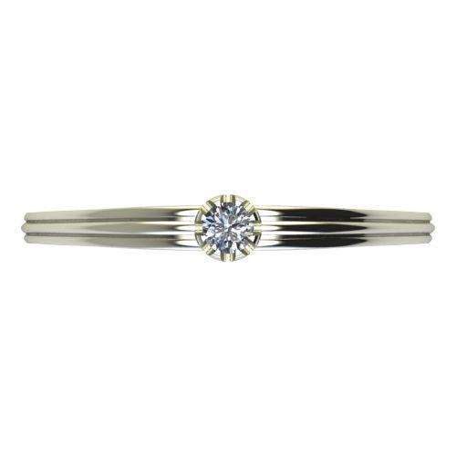 Годежен Пръстен бяло злато с диамант Flores 0,04 ct. 2055 a