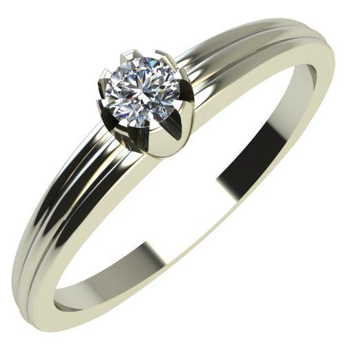 Годежен Пръстен бяло злато с диамант Flores 0,04 ct. 2055