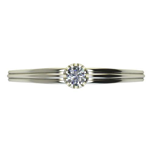 Годежен Пръстен бяло злато с диамант Flores 0,07 ct. 2056 a