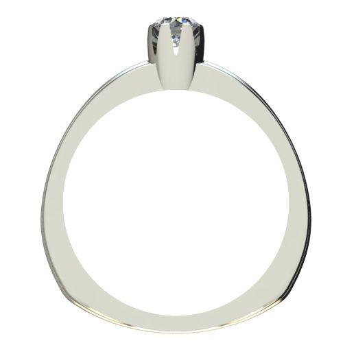 Годежен Пръстен бяло злато с диамант Flores 0,07 ct. 2056 b