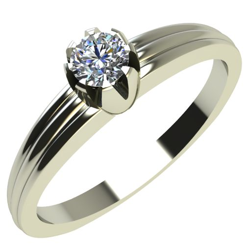 Годежен Пръстен бяло злато с диамант Flores 0,07 ct. 2056