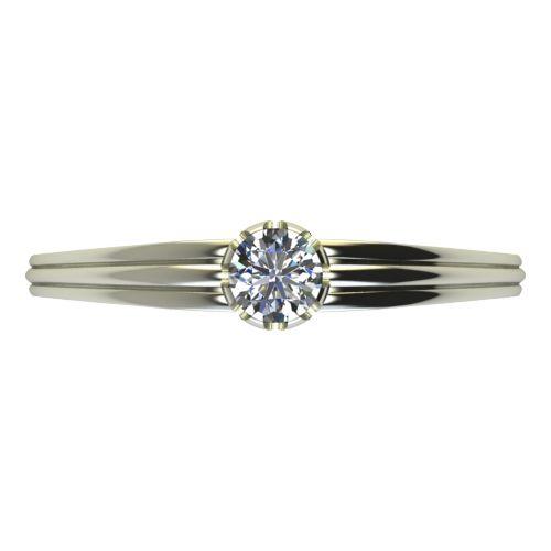 Годежен Пръстен бяло злато с диамант Flores 0,12 ct. 2057 a