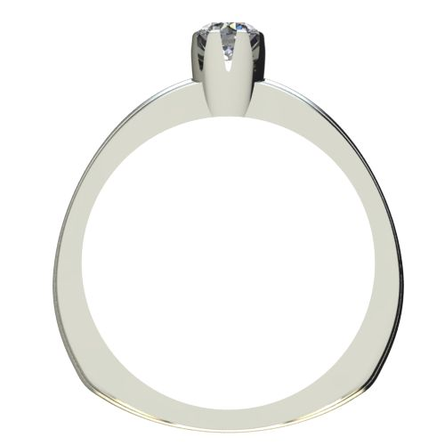 Годежен Пръстен бяло злато с диамант Flores 0,12 ct. 2057 b
