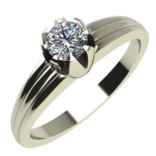 Годежен Пръстен бяло злато с диамант Flores 0,12 ct. 2057