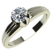 Годежен Пръстен бяло злато с диамант Flores 0,17 ct. 2058