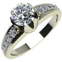 Годежен Пръстен бяло злато с диамант Flores 0,32 ct. 2064