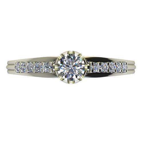 Годежен Пръстен бяло злато с диамант Flores 0,32 ct. 2064 a