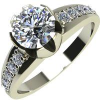 Годежен Пръстен бяло злато с диамант Flores 0,40 ct. 2065