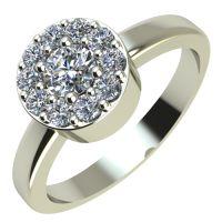 Годежен Пръстен бяло злато с диамант Halo 0,27 ct. 2072