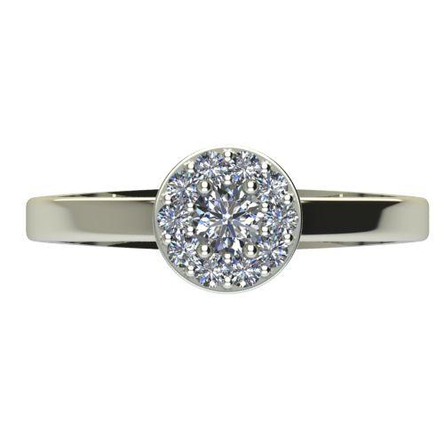 Годежен Пръстен бяло злато с диамант Halo 0,27 ct. 2072 a
