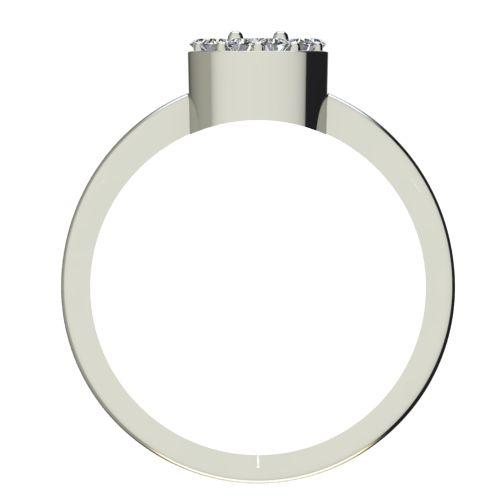Годежен Пръстен бяло злато с диамант Halo 0,27 ct. 2072 b