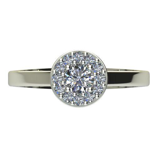 Годежен Пръстен бяло злато с диамант Halo 0,43 ct. 2078 a