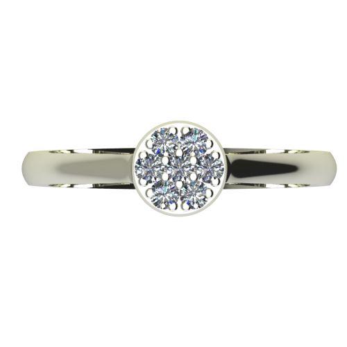 Годежен Пръстен бяло злато с диамант Snowy 0,10 ct. 2053 a