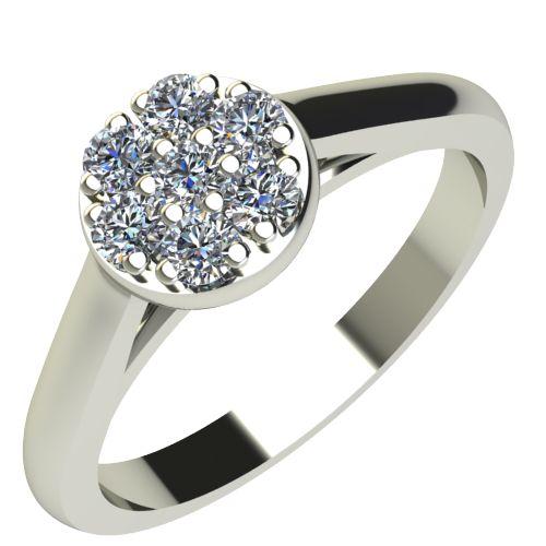 Годежен Пръстен бяло злато с диамант Snowy 0,10 ct. 2053