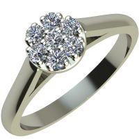Годежен Пръстен бяло злато с диамант Snowy 0,14 ct. 2054
