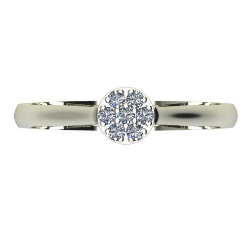 Годежен Пръстен бяло злато с диамант Snowy 0,14 ct. 2054 a