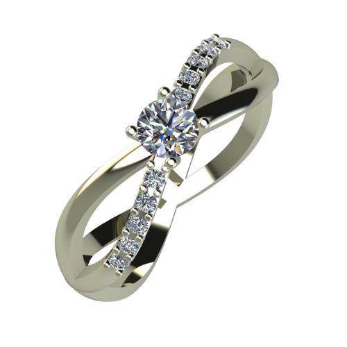 Годежен Пръстен бяло злато с диамант Vision 0,27 ct. 920