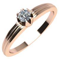 Годежен Пръстен розово злато с диамант Flores 0,04 ct. 2060