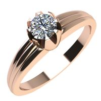 Годежен Пръстен розово злато с диамант Flores 0,12 ct. 2070