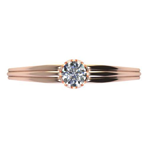 Годежен Пръстен розово злато с диамант Flores 0,12 ct. 2070 a