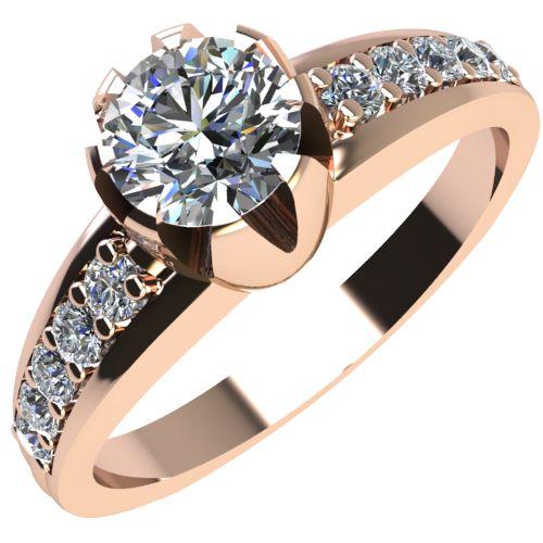 Годежен Пръстен розово злато с диамант Flores 0,32 ct. 2069