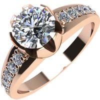 Годежен Пръстен розово злато с диамант Flores 0,40 ct. 2067