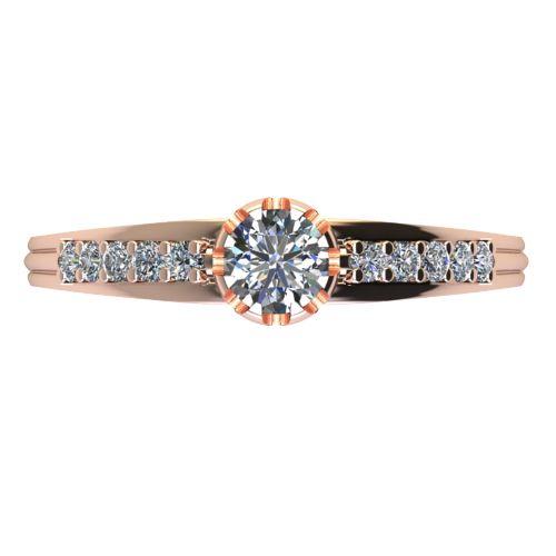 Годежен Пръстен розово злато с диамант Flores 0,40 ct. 2067 a
