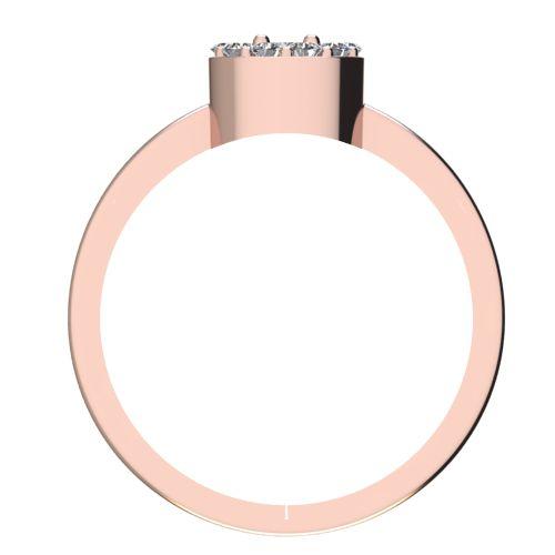 Годежен Пръстен розово злато с диамант Halo 0,32 ct. 2077 b