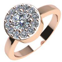 Годежен Пръстен розово злато с диамант Halo 0,43 ct. 2080