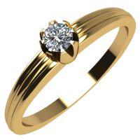 Годежен Пръстен жълто злато с диамант Flores 0,04 ct. 2059