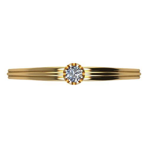 Годежен Пръстен жълто злато с диамант Flores 0,04 ct. 2059 a