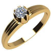 Годежен Пръстен жълто злато с диамант Flores 0,07 ct. 2061