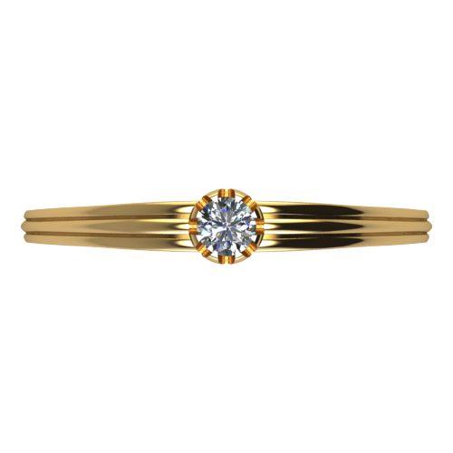 Годежен Пръстен жълто злато с диамант Flores 0,07 ct. 2061 a