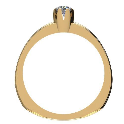 Годежен Пръстен жълто злато с диамант Flores 0,07 ct. 2061 b