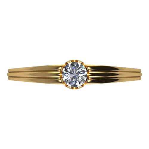 Годежен Пръстен жълто злато с диамант Flores 0,17 ct. 2071 a