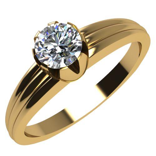 Годежен Пръстен жълто злато с диамант Flores 0,17 ct. 2071