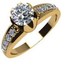 Годежен Пръстен жълто злато с диамант Flores 0,32 ct. 2068