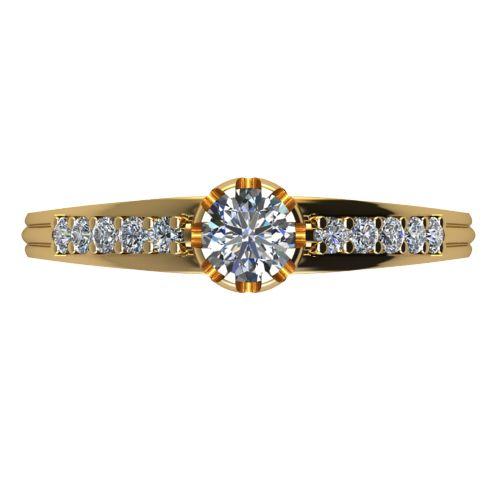 Годежен Пръстен жълто злато с диамант Flores 0,40 ct. 2066 a