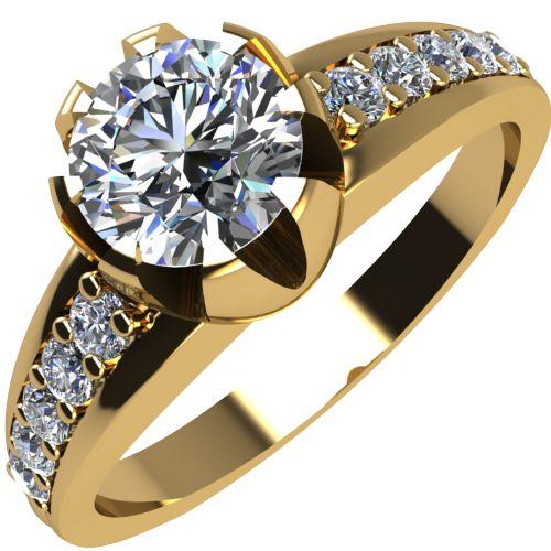 Годежен Пръстен жълто злато с диамант Flores 0,40 ct. 2066