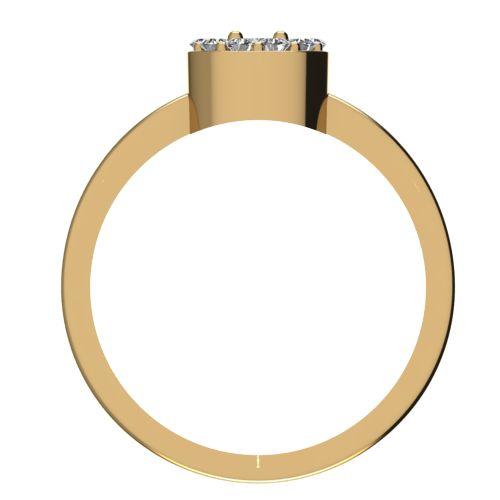 Годежен Пръстен жълто злато с диамант Halo 0,27 ct. 2073 b