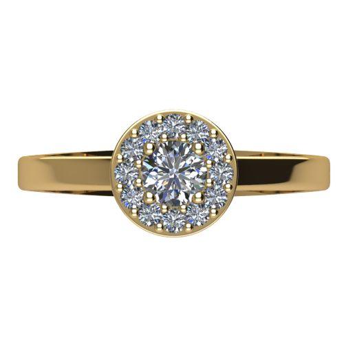 Годежен Пръстен жълто злато с диамант Halo 0,43 ct. 2079 a