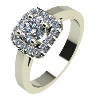 Годежен Пръстен бяло злато с диамант Cube 0,41 ct. 2101