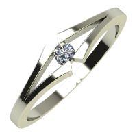 Годежен Пръстен бяло злато с диамант Eyes 0,04 ct. 705